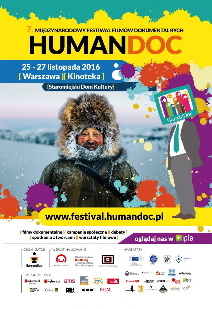 Plakat B1 Festiwal HumanDOC