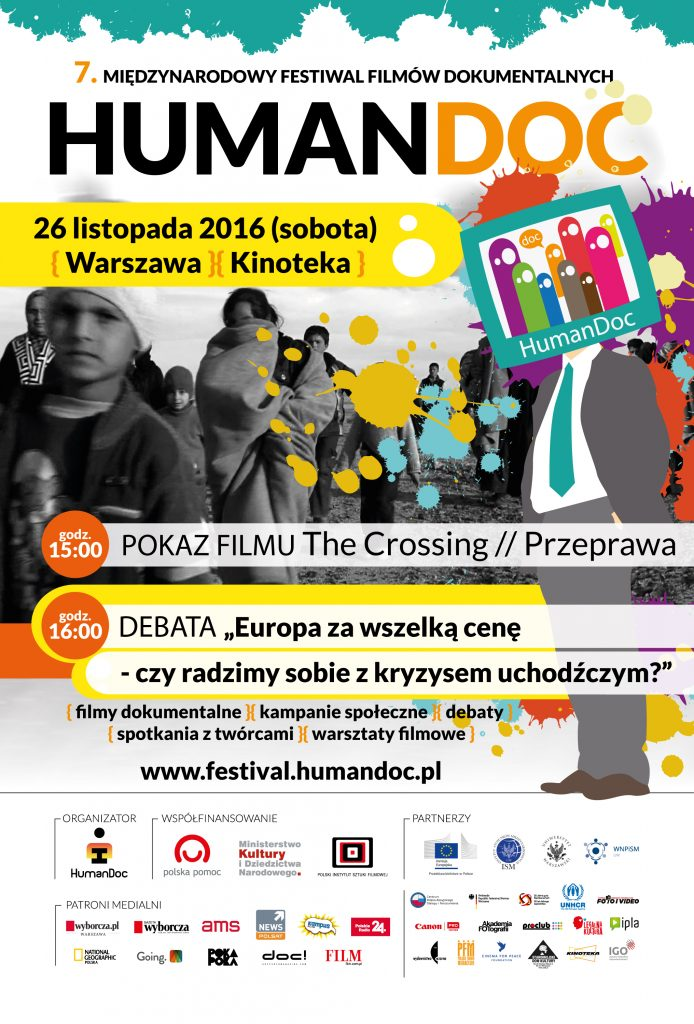 Plakat Festiwal HumanDOC - Przeprawa